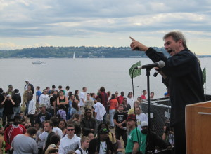 Speaking from the Seattle Hempfest main stage 2010