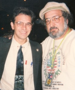 With Jack Herer after designing and editing Herer's book, The Emperor Wears No Clothes, 1991