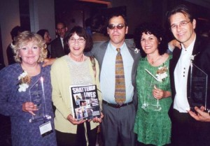 Receiving the Robert Randall Award for their work on the Human Rights and the Drug War project, 2001