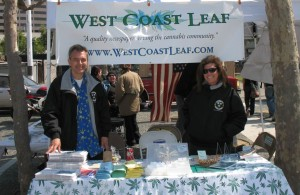 With Mikki Norris at their West Coast Leaf newspaper booth, 2008