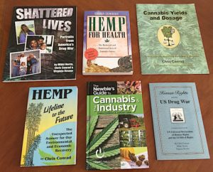 Books by Chris Conrad Shattered Lives Hemp for Health Hemp Lifeline to the Future Cannabis Yields and Dosage Human Rights and the Drug War Newbie's Guide to Cannabis and the Industry